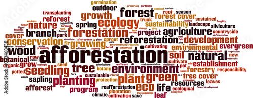 Afforestation word cloud Canvas Print