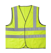 Yellow Reflective Vest Isolated On White