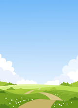 Card With A Simple Landscape, ...