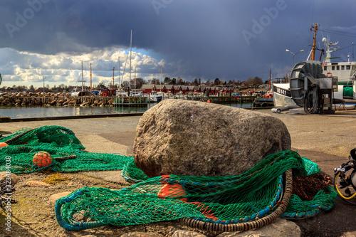 Valokuvatapetti fishing nets on the beach