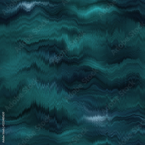 Valokuva Vivid degrade blur ombre teal turquoise wavy cloudy radiant surreal blurry saturated digital wavy cloudy seamless repeat raster jpg pattern swatch