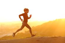 Profile Of A Runner Girl Runni...