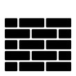 gz730 GrafikZeichnung - german - Backsteinmauer Gebäude, Konstruktion, Mauerwerk Symbol. - english - brick wall, building, construction, masonry icon. - square xxl g9067