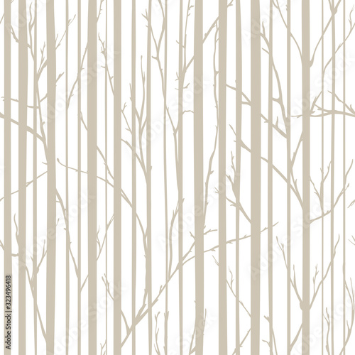 Tapeta do przedpokoju  branches-of-trees-intertwine-seamless-pattern-natural-theme-branches-and-stripes-pattern