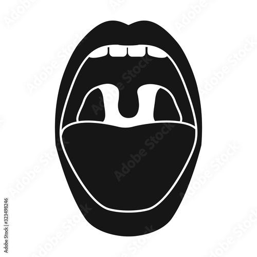 Mouth vector icon Canvas Print