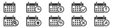 Calendar Vector Icons. Set Of Calendar Symbols