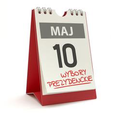 Wybory prezydenckie - kalendarz 10 maja, ilustracja 3D