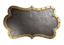Medieval Signboard Isolated On A White Background, Clipping Path Included. 3d Illustration.