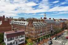 Kennedy Street In Harvard University Area In Cambridge MA America
