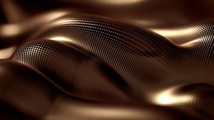 Metalne luksuzne pozadine draperije čestica blistaju. Metalne luksuzne draperije za pozadinu. 3d .. ilustracija, 3d prikaz.