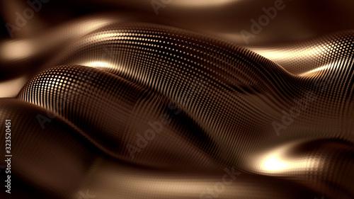 Fototapeta Metal luxury background drapery particles glitter. Metal luxury background drapery. 3d ..illustration, 3d rendering. obraz