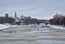 Winter View Of Vologda River W...