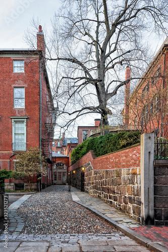 Valokuvatapetti Beacon Hill neighborhood downtown Boston Massachusetts of America
