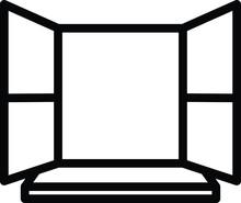 Window Icon, Vector Line Illus...