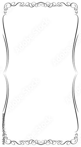Fototapeta バロック調のオーナメント・カリグラフィー飾り罫・飾り囲み・背景|ベクターデーター・長方形 obraz na płótnie