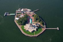 An Isolated Aerial Photograph Of The Statue Of Liberty And Liberty Park Taken With The Summer Of 2018