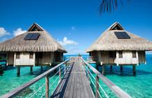 Wooden Walkways Over The Water...
