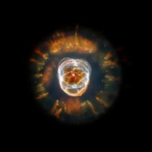 Eskimo Nebula. Sci Fi Space Art