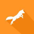 Fox jumps forward - Icon Illustration
