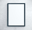 canvas print picture Blank placard on concrete wall.