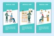 Medical Care Promotional Printed Flyers Flat Set