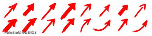 red grunge arrow.red grunge arrow vector. red grunge arrow brush.red grunge a...