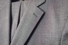 Close Up Of Light Grey Woolen ...
