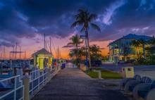 Sunset Sky Clouds Pier Beach S...