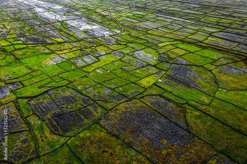 The Dry Stone Walls of  Inishmore at Aran Islands, Ireland Canvas Print