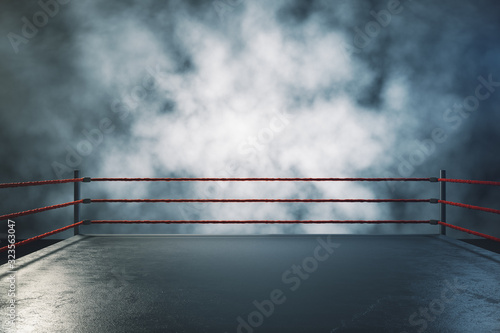 Photo Professional boxing ring