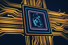 Digital Heart Scheme As A Chip In A Microchip