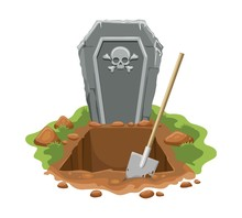 Cemetery Digged Grave Hole