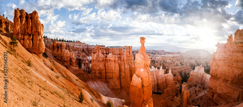 Canvas Bryce Canyon National Park at sunrise, Utah, USA
