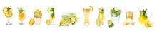 Fresh Lemonade On White Backgr...