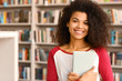 Portrait of African-American student in library