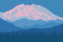 Vector Drawing Of Denali - McK...