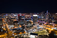 Night Aerial Photo Downtown Nashville Tennessee City Lights