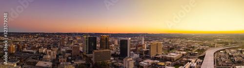 Sunset panorama Birmingham Alabama USA Canvas Print