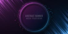 Abstract Banner With Honeycomb...