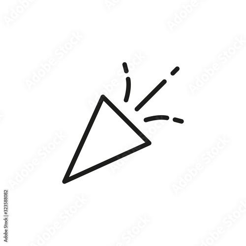 Obraz na plátně Simple petard line icon.