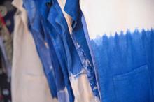 Closeup Indigo Dyed Cotton For Background