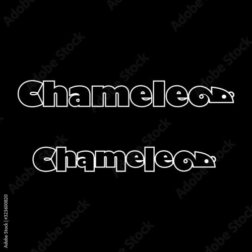 Photo Chameleon logo type vector art