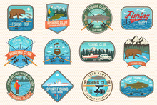 Set Of Fishing Patch. Vector. ...