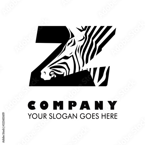 Photo Zebra illustration logo type vector
