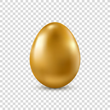 Vector Golden Realistic Easter...