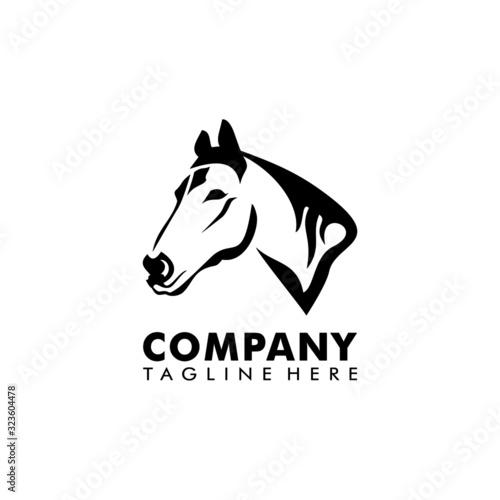 Zebra art illustration logo vector Canvas Print