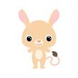 Cute baby jerboa. Wild animal. Flat vector stock illustration on white background