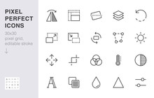 Photo Edit Line Icon Set. Flip...