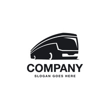 Traveling Buss Logo Icon In Simple And Abstract Way