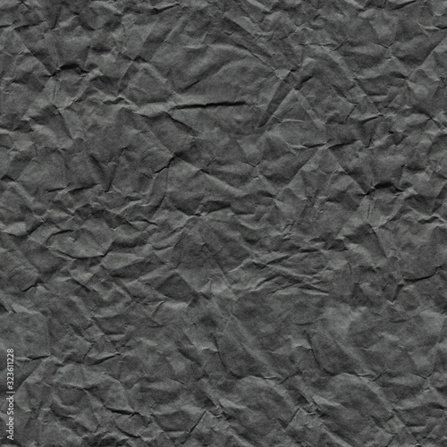 Fototapeta Crumpled paper background in stylish metalic grey color for unique holiday gift. Seamless texture. obraz na płótnie